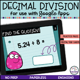 Decimal Division for use with Google Apps   Distance Learning