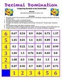 Decimal Domination Game - Comparing Decimal Numbers to the