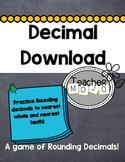 Decimal Download (A Printable Common Core Decimal Rounding Game)