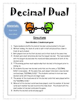 Decimal Dual Math Center