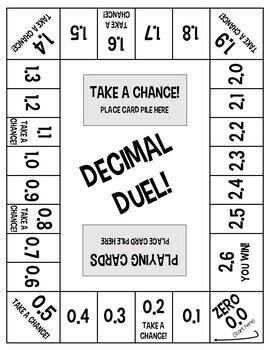 Decimal Duel! A Dividing Decimals Board Game