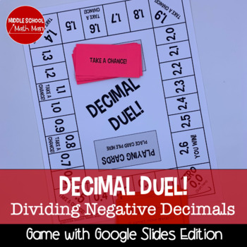 Decimal Duel! Dividing Decimals Board Game (Negative Number Edition)