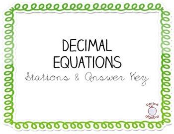 Decimal Equation Stations