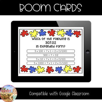 Decimal Expanded Form - Boom Cards