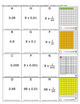 Decimal Expanded Notation Match (TEKS 5.2A, CCSS 5.NBT.3a)