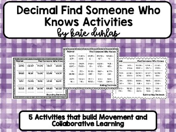 Decimal Find Someone Who Knows Activity