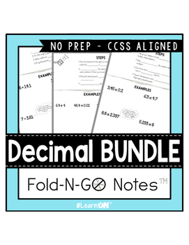 Decimal Fold-N-Go Notes™ BUNDLE ~ Interactive Notebooks