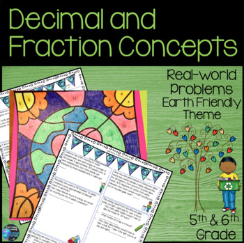 Fraction and Decimal Earth Friendly Themed Math Project