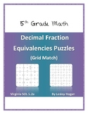 Decimal Fraction Equivalencies Puzzles (Grid Match)