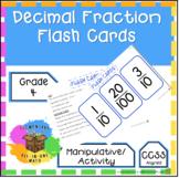 Decimal Fraction Flash Cards - 4th Grade Math (4.NF.5)