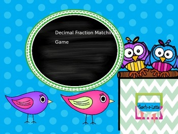 Decimal Fraction Matching Game