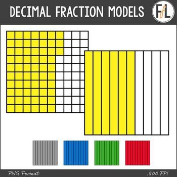 Decimal Fraction Models Clipart