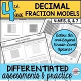 Decimal Fraction Models Assessments or Practice Sheets {Di