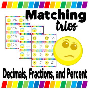 Decimal Fraction Percent Memory Game