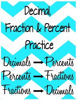 Decimal Fraction & Percent Practice