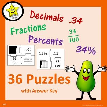 Decimal Fraction Percent Puzzles