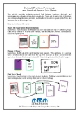 Decimal, Fraction, Percentage and Hundred Square Grid Match Activity