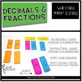 Decimal & Fraction War Game and Number Sort