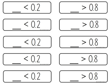 Decimal & Fraction War Game and Number Sort