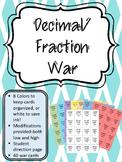 Decimal Fraction War! Introduciton to Adding Decimals