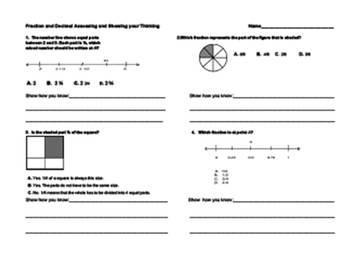 Decimal, Fraction and Number Line Quiz