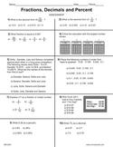 Decimal, Fraction and Percentage Concepts Test