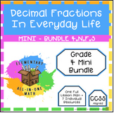 Decimal Fractions In Everyday Life - Mini Bundle (4.NF.5)