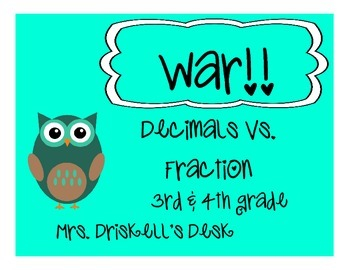 Decimal & Fractions WAR GAME