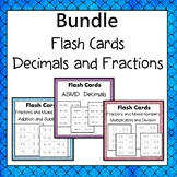 Decimals and Fractions  Flash Cards  Bundle