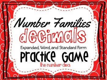 FREE Decimal Game: Expanded, Standard, and Word Form
