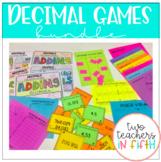 5th grade Decimal Games: Bundle #1