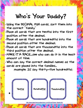 Decimal Games: Who's Your Daddy (ABBREVIATED VERSION)