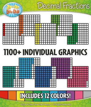 Decimal Grid Fractions Clipart Set – Includes 1100+ Graphics!