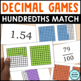Decimal Grid Match Up - Level 2 - Hundredths Grids