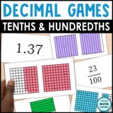 Decimal Grid Match Up - Level 3 - Mixed Tenths & Hundredths Grids
