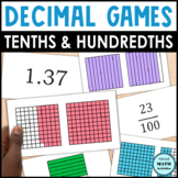 Decimal Grid Match Up - Level 3 - Mixed Tenths & Hundredths Grids