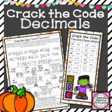 Decimal Halloween Activity Crack the Code