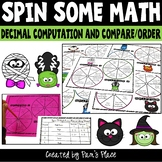 Decimal Halloween Spinner Activities