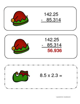 Decimal Holiday Math Center