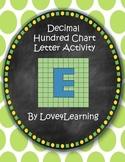 Decimal Hundreds Chart Math Activity