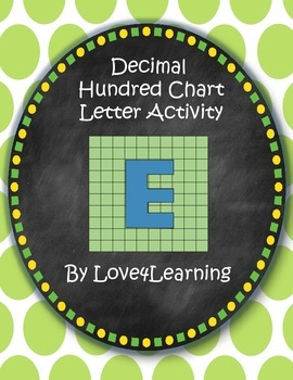 Decimal Hundreds Chart Math Activity