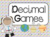Decimal Games: Common Core Aligned CCSS 4.NF.6, 4.NF.7, 5.NBT.3