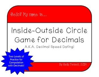 Decimal Inside-Outside Circle Practice {AKA Decimal Speed Dating!}