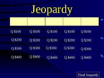 Decimal Jeopardy
