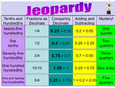 Decimal Jeopardy Review Game