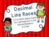 Decimal Number Line Races - A Fun Math Game for Understanding Ordering Decimals