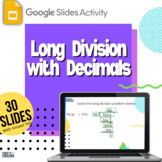 Decimal Long Division Google Slides Engaging Fill-in-the-Blank Activity