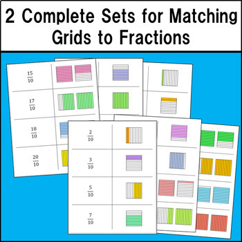 Decimal Grid Match Up - Level 1 - Tenths Grids