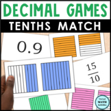 Decimal Grid Match Up - Level 1 - Tenths Grids