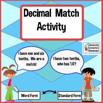 Decimal Matching Activity